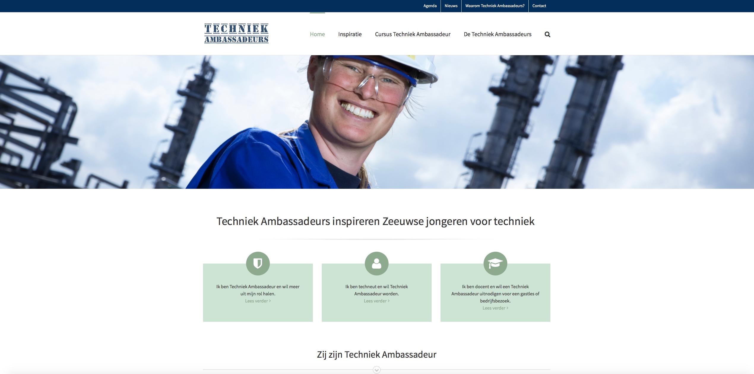 Website Techniek Ambassadeurs