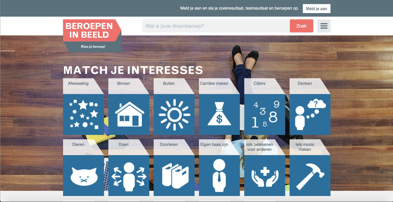 Lestip: website Beroepen in beeld